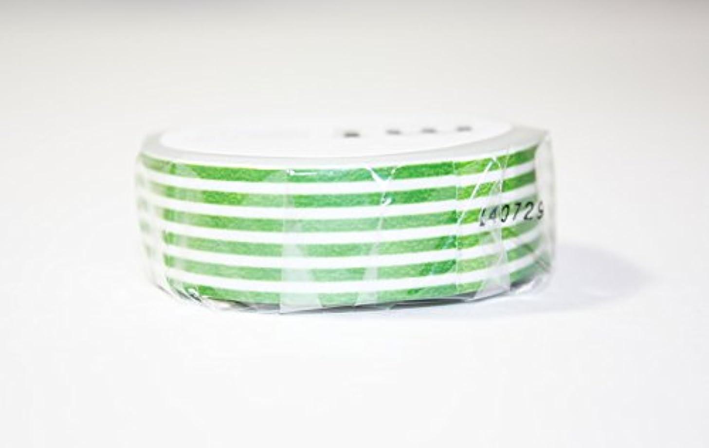 MT Washi Masking Tape, 1P Deco, 15mm x 10m, Border Light Green (MT01D258)
