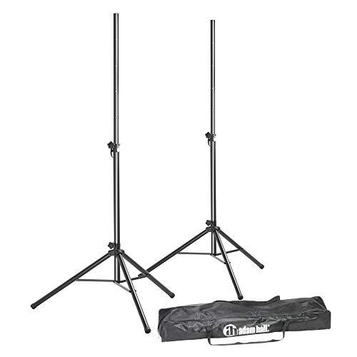 ah Stands SPS023SET - Juego de 2 soportes de pie para altavoces (incluye funda)