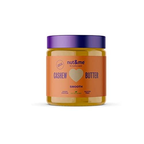 Crema de anacardos nut&me 500 gr | Hecho 100% con anacardos tostados | Sin azúcar, sin gluten y sin aditivos | Sin aceite de palma
