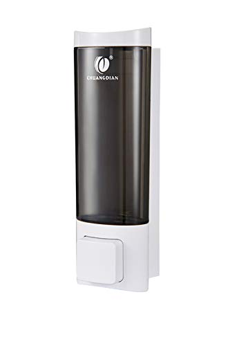 Shower Soap Dispenser Wall Mounted Adhesive Lotion Dispenser, 200ml(6.8 Oz)