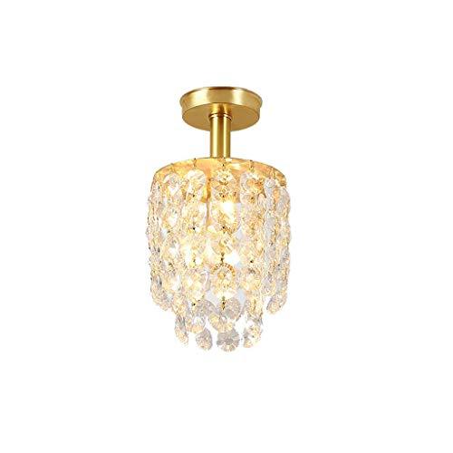 Family Copper Crystal Aisle lamp garderobe vloerlamp balkon kleine plafondlamp gemaakt van koper, Crystal Inlay E27, JTD