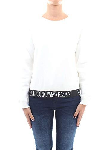 Emporio Armani Damen Logo Atleisure Fleece Sweatshirt, gebrochenes weiß, 70
