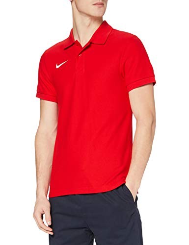 Nike Team Core Polo Poloshirt Homme, University Red/White, FR : S (Taille Fabricant : S)