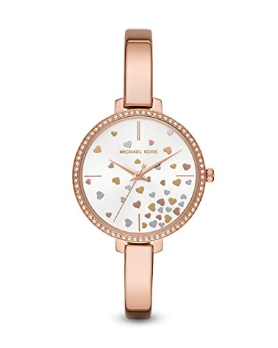 Michael Kors Damen Analog Quarz Uhr mit Edelstahl Armband MK3978