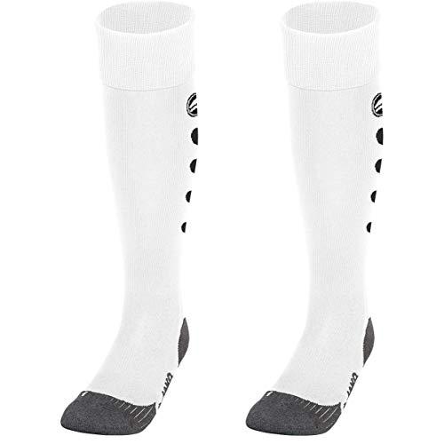 JAKO Uni Stutzenstrumpf Roma Socken, Weiß, 39-42