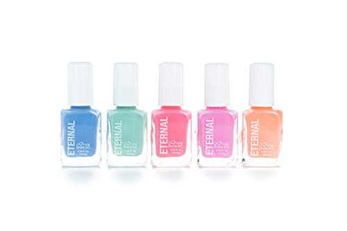 Eternal 5 Collection: Candy Pastels - 5 Pieces Set: Long Lasting, Quick Dry Nail Polish