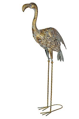 Riesige schöne Metall Figur Flamingo 95cm W-G180228 Gartenfigur Dekofigur Metallart