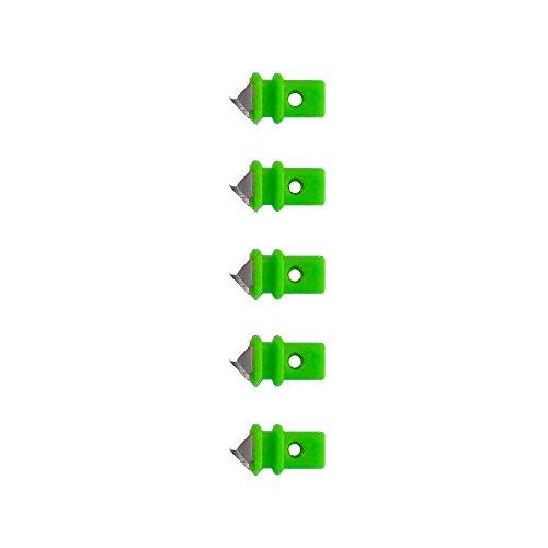 Wedo 7995 Ersatzklingen (für Kreisschneider Comfortline) 5 Stück, grün/silber