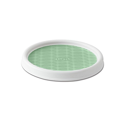 Copco Non-Skid Pantry Cabinet Lazy Susan Turntable 9-Inch WhiteGreen