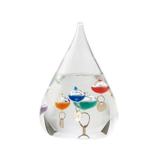 Termómetro Galileo de SUCHUANGUANG, Gota de Agua, Botella de pronóstico del Tiempo, decoración Creativa, Vidrio, Aceite de parafina, manija de Puerta de Agua