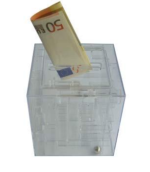 BETEC 9100 Geldlabyrinth - Geschenkewürfel oder Spardose