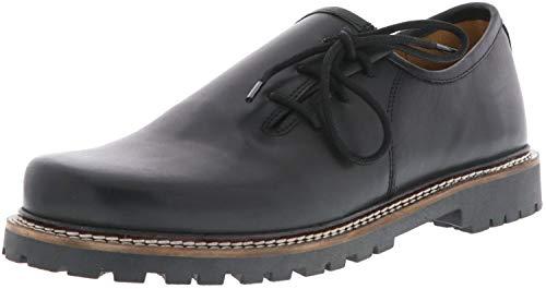Vista Haferlschuhe Damen Herren bayerischer Look Almhaferl Echtleder schwarz, Größe:38, Farbe:Schwarz