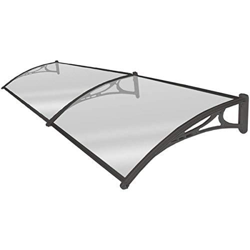 Placa de 2,7 mm Arco silencioso de policarbonato con Profundidad 60 / 80cm Soportes de Aluminio contra Todo Tipo de Clima Elementos (Color : Clear, Size : 60cmx120cm)