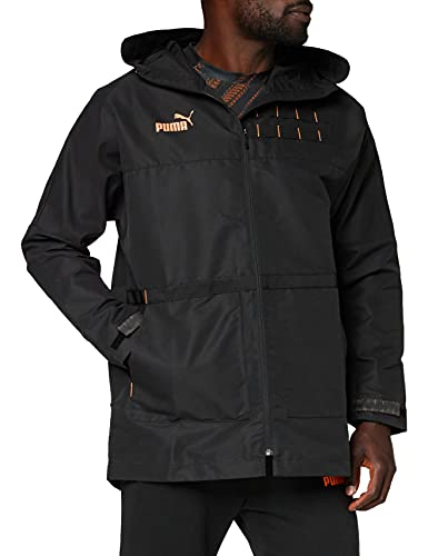 Puma ftblNXT Casuals Parka Coupe-Vent Homme Puma Black/Fizzy Orange FR : 2XL (Taille Fabricant : XXL)