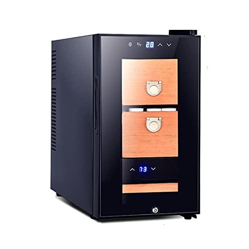 Humidores Gabinete de Puros electrónico Inteligente Temperatura y Humedad constantes CigarCedar Sistema de purificación de Iones Negativos refrigerado