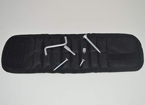 Bandeau Bracelet (27X9cm env) Magnétique pour Poignet Outil Astucieux Aimanté Porte Visserie, Clous, Écrous, boulons Idéal Bricoleurs, Mécaniciens, Monteurs, Installateurs.