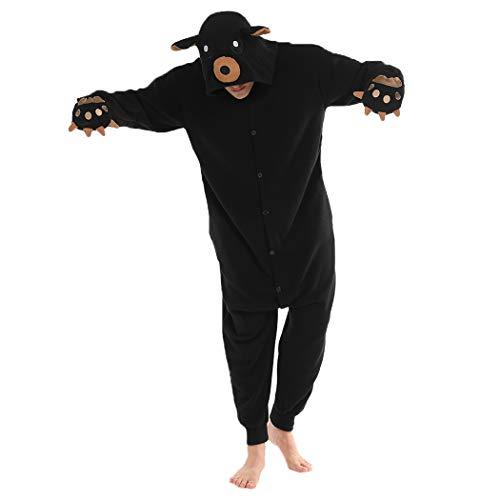 FORLADY Disfraz de Cosplay Animal Oso Animal Pijamas Adulto Halloween Pajamas