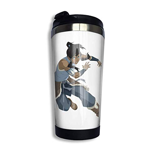 Qurbet Kaffeebecher Thermobecher mit Schraubdeckel, Legend Ko-rra Coffee Cups Stainless Steel Water Bottle Cup Travel Mug Coffee Tumbler with Spill Proof Lid