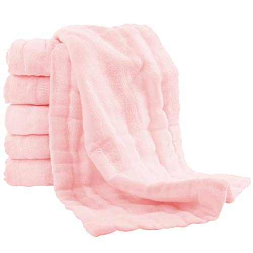 Paños de muselina para eructos – Paquete de 6 paños grandes 100% algodón, paño extra absorbente y suave para eructar – saliva de leche