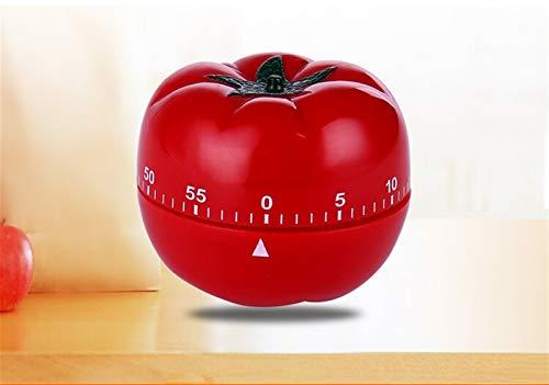 Temporizador de cocina Temporizador de cocina digi 1PC Nueva 1-60min de 360 grados tomate temporizador Temporizador de cocina creativa mecánica temporizador de cuenta regresiva de alarma del aviso O