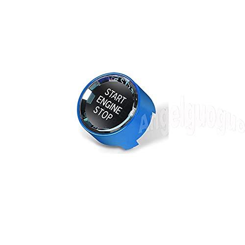 LPL Botón de Motor de Parada de Estrellas de Estilo de Cristal de Coche Reemplazar la Cubierta Compatible con BMW 1 2 3 5 6 7 x1 x2 x3 x3 x6 Serie F Chassis/G Chasis (Color Name : Blue)
