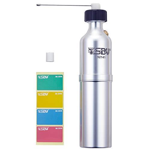 SBV 52141 (500 ml) Aluminium Sprühdose - wiederaufladbare & umweltfreundliche Aerosolflasche mit Sicherheitsventil und Kennzeichnungsaufklebern