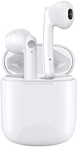 Auriculares Bluetooth, Auriculares Inalámbricos Bluetooth 5.1 en la Oreja con Caja de Carga Rapida, Micrófono Incorporado, Control Táctil, IPX7 Impermeables, Reproducci 30 Horas