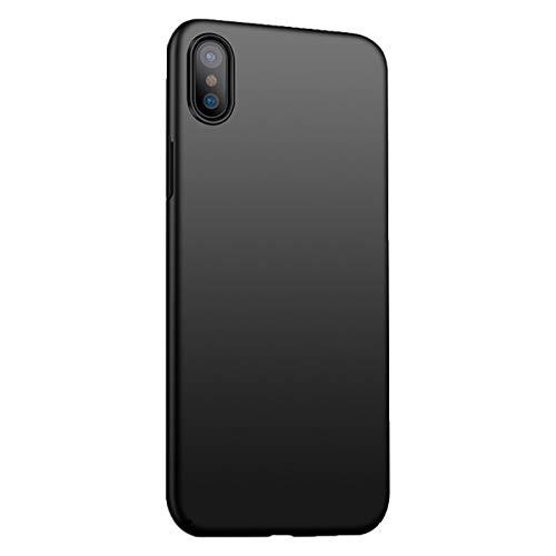 Funda iPhone X/XS/XS MAX Ultra Fina Case Ligera Flexible PC Protección Cáscara Ultra-Delgado, Anti-Rasguño, Anti-Golpes, Anti-Estático, Cover teléfono Caso (iPhone XS MAX, Negro)