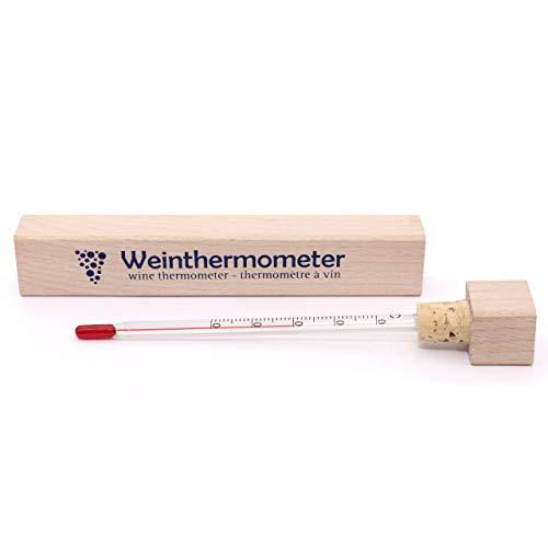 Lantelme 6273 Termometro per vino con custodia in legno
