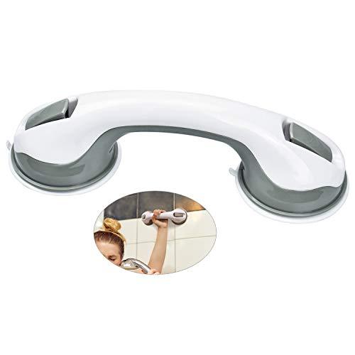 cococity Wannengriff Saugnapf Duschgriff Kunststoff Badewannengriff ohne Bohren Haltegriff Extra Stark Griffstange Rutschfest Support Griff für Bad, Dusche, WC(30 x 9,5 x 8cm)