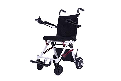 Find Discount EBEI Electric Wheelchair, Super Lightweight Portable Smart Chair Personal Mobility Scooter Wheelchair – Weighs only 40 lbs with Battery