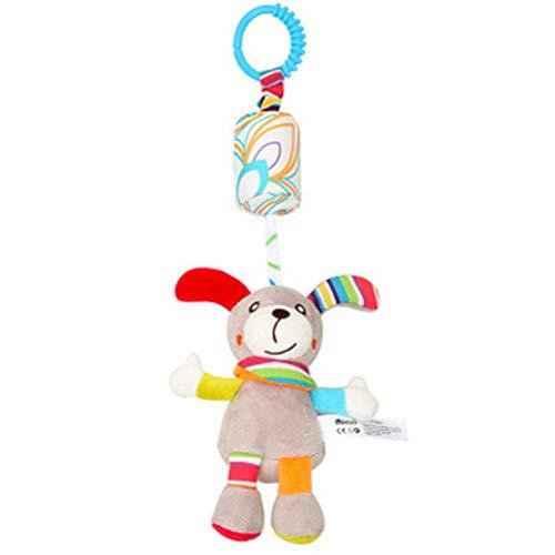 NLRHH Lindos Juguetes bebé Dibujos Animados Animal Colgando Ornamentos Viento Chime Juguete para Juguetes de Raqueta de Peluche Infantil recién Nacido (Perro) Peng