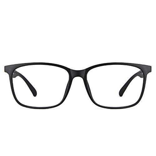 Cyxus Blaulicht-Brille, Leichter Brillenrahmen, Filter, Blue-Ray-Computerspiel, Anti-Augenanstrengung und Kopfschmerzen, 8083T02, Schwarz