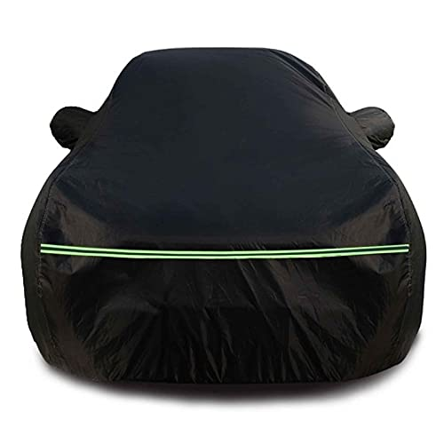 Car Cover Compatible with DS Automobiles DS3 DS4 DS5 DS7 Waterproof Dustproof Windproof Sun Protection Effectively Respond Rain Snow Hail Weather (Color : Black, Size : DS3 Crossback)