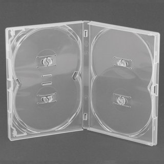 Amaray DVD case / multibox in clear to hold 4 discs by Amaray