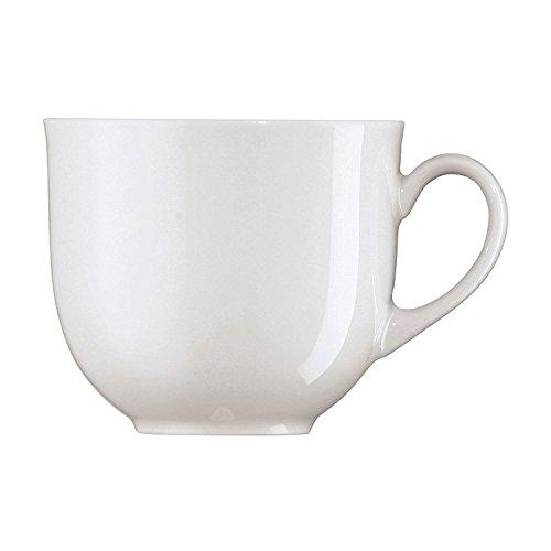 Arzberg Form 1382 Weiss Kaffee-Obertasse, Porzellan, White, 28.1 x 19.3 x 8.9 cm