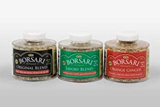 Sponsored Ad - Borsari Seasoned Salt Gift Set - Gourmet Sea Salt Blends With Herbs and Spices - Gluten Free - 4 oz Shaker ...