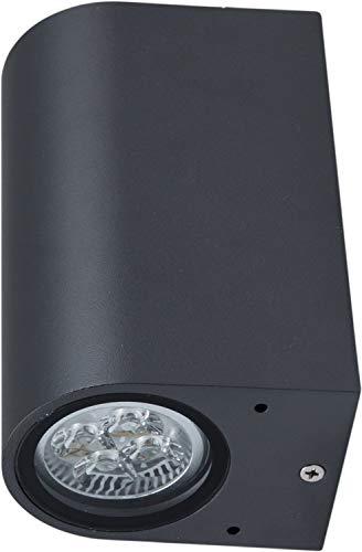 Wandleuchte Lampe Außenleuchte Ambos für Energiesparlampe / LED Haus Wand oben unten