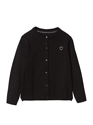 Vertbaudet Strickjacke für Mädchen mit Stickerei schwarz 128