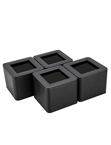 Winko Möbelerhöher Bett erhöhung Möbelerhöhung Tisch erhöher Elefantenfuß Bed Riser 4St (3 Zoll, Schwarz)