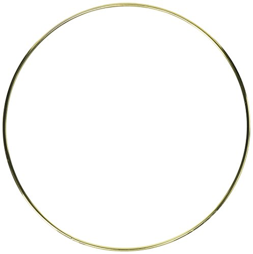 "Gold Metal Ring for Floral Hoops - 10"" Wide"