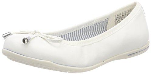 Indigo Schuhe Damen 422 302 Geschlossene Ballerinas, Weiß (White), 37 EU