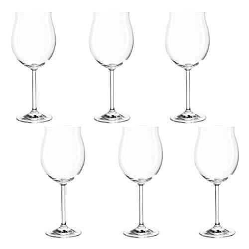 montana pure Burgunder-Gläser, 6er Set, spülmaschinenfeste Rotwein-Kelche, Wein-Gläser im klassischen Stil, Glas-Kelche für Rotwein, 550 ml, 042388