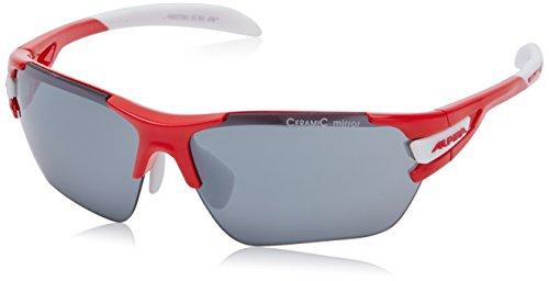 ALPINA Fahrradbrille Tri-Scray S, Red/White, One Size