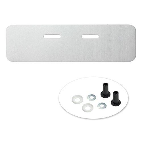 Haas 7453 Schallschutz 240 mm x 750 mm Set für Waschbecken Dämmmatte Spülbecken PE Schaum Unterlage Schalldämmung Waschtisch
