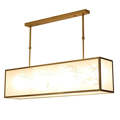 Candelabro de cobre para restaurante, sala de estudio, dormitorio, lámpara nórdica, creativa, minimalista, salón rectangular