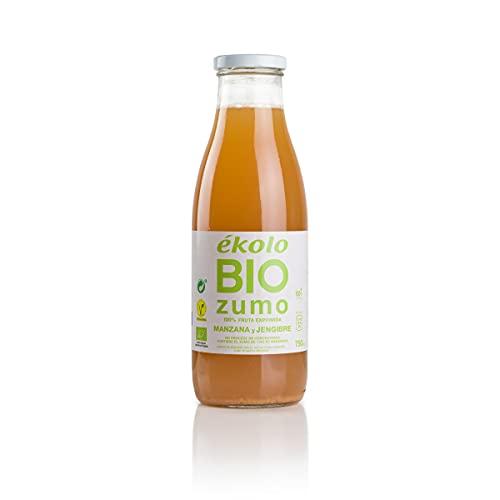 Ekolo Zumo de Manzana Jengibre Ecológico, 100% Exprimido, 6 Botellas x 750 ml 4500 ml