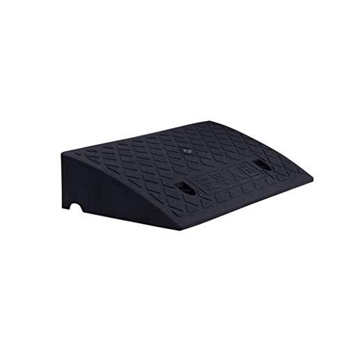XUZgag Curb Ramps, leichtes Gelände Auto Roller Rampen for Behinderte Rollstuhl-Zugang Sicherheit bewegen Rampen Kunststoff Schwarz Step Pad Sicher bergauf Pad (Color : Black, Size : 50 * 27 * 11cm)