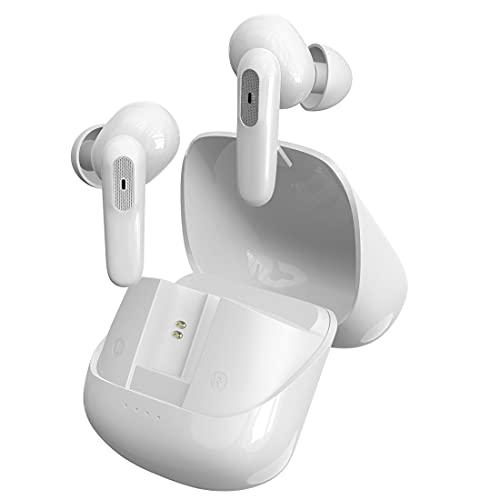 Auricolari wireless, cuffie Bluetooth auricolari corsa con microfono cancellazione rumore, microfono incorporato, impermeabili IPX5, aggiornamento auricolare wireless per laptop/sport/iPhone/Android