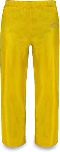 normani Kinder Regenhose Matschhose Überziehhose ungefüttert - 100% Wasser -und Winddicht Farbe Gelb Größe M/134-140